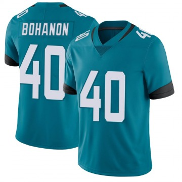 Youth Nike Jacksonville Jaguars Tommy Bohanon Teal Vapor Untouchable Team Color Jersey - Limited