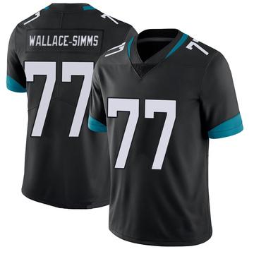 Youth Nike Jacksonville Jaguars Tre'Vour Wallace-Simms Black 100th Vapor Untouchable Jersey - Limited