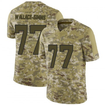 Youth Nike Jacksonville Jaguars Tre'Vour Wallace-Simms Camo 2018 Salute to Service Jersey - Limited