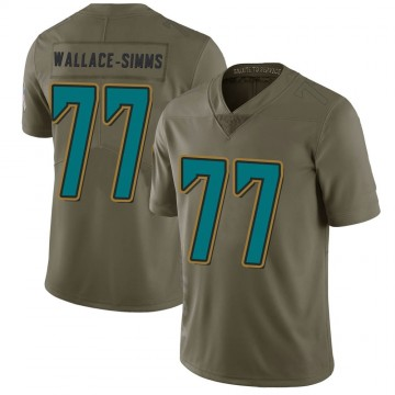 Youth Nike Jacksonville Jaguars Tre'Vour Wallace-Simms Green 2017 Salute to Service Jersey - Limited