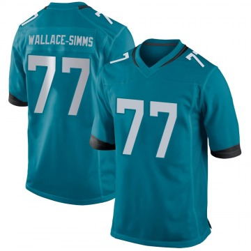 Youth Nike Jacksonville Jaguars Tre'Vour Wallace-Simms Teal Jersey - Game