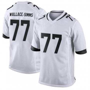 Youth Nike Jacksonville Jaguars Tre'Vour Wallace-Simms White Jersey - Game