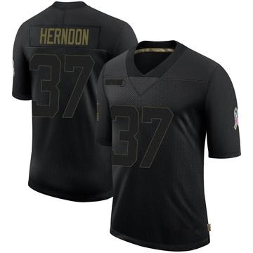 Youth Nike Jacksonville Jaguars Tre Herndon Black 2020 Salute To Service Jersey - Limited