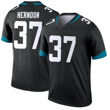 Youth Nike Jacksonville Jaguars Tre Herndon Black Jersey - Legend