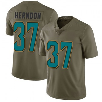 Youth Nike Jacksonville Jaguars Tre Herndon Green 2017 Salute to Service Jersey - Limited
