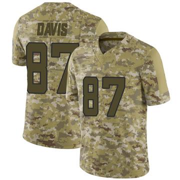 Youth Nike Jacksonville Jaguars Tyler Davis Camo 2018 Salute to Service Jersey - Limited