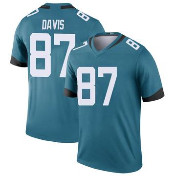 Youth Nike Jacksonville Jaguars Tyler Davis Teal Color Rush Jersey - Legend
