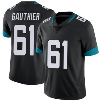 Youth Nike Jacksonville Jaguars Tyler Gauthier Black 100th Vapor Untouchable Jersey - Limited