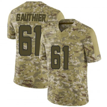 Youth Nike Jacksonville Jaguars Tyler Gauthier Camo 2018 Salute to Service Jersey - Limited