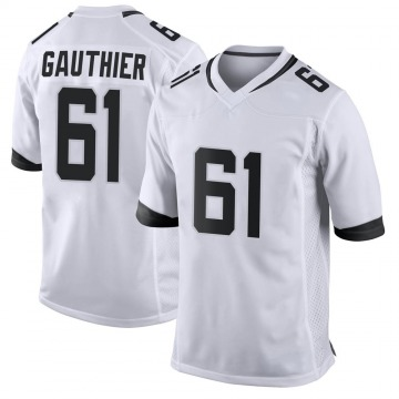 Youth Nike Jacksonville Jaguars Tyler Gauthier White Jersey - Game