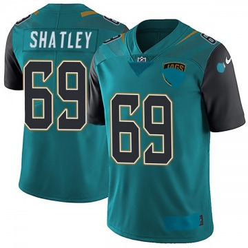 Youth Nike Jacksonville Jaguars Tyler Shatley Teal Vapor Untouchable Team Color Jersey - Limited