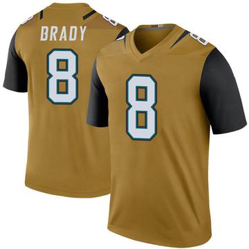 Youth Nike Jacksonville Jaguars Tyre Brady Gold Color Rush Bold Jersey - Legend