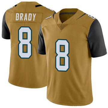 Youth Nike Jacksonville Jaguars Tyre Brady Gold Color Rush Vapor Untouchable Jersey - Limited