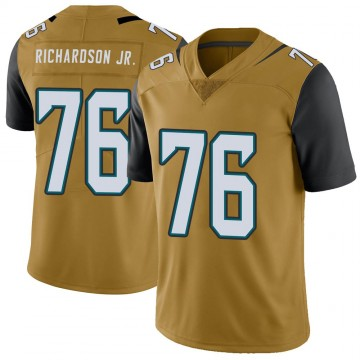 Youth Nike Jacksonville Jaguars Will Richardson Gold Color Rush Vapor Untouchable Jersey - Limited