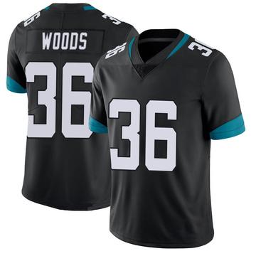 Youth Nike Jacksonville Jaguars Zedrick Woods Black 100th Vapor Untouchable Jersey - Limited