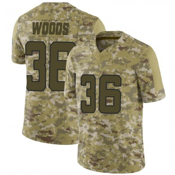 Youth Jacksonville Jaguars Zedrick Woods Camo 2018 Salute to Service Jersey - Limited